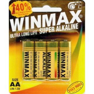 WinMax AA Super Alkaline Battery 4 Pack