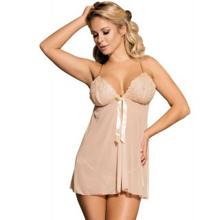 Apricot Seductive and Elegant Babydoll With G-string 12-14