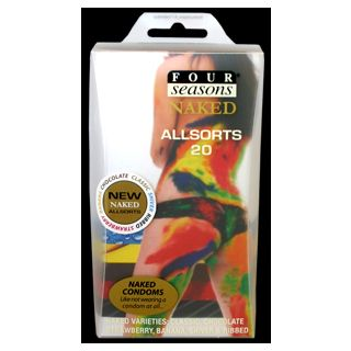 4 Seasons The Naked AllSorts Condoms 20PK
