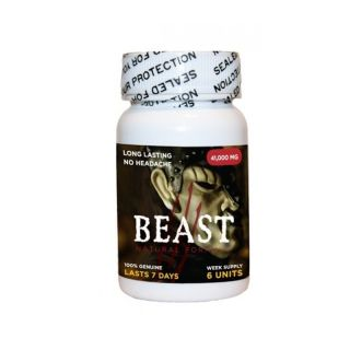 Beast Male Enhancement and Performance 6 Pack Bottle