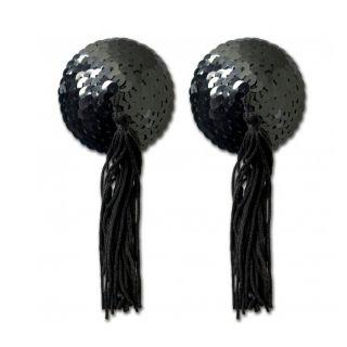 Black Sequin Tassel Pastie