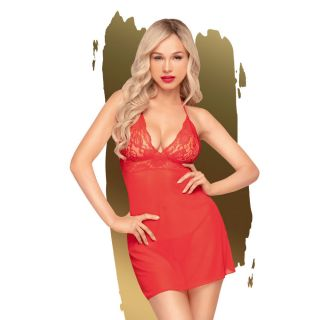 Penthouse Bedtime Story Chemise Red 8-10