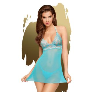 Bedtime Story - Turquoise Chemise S/M