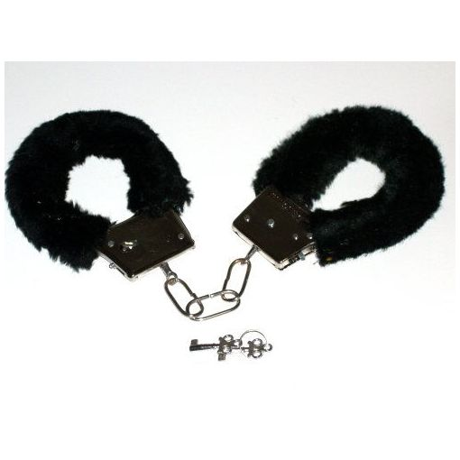 Novelty Fluffy Handcuffs Black