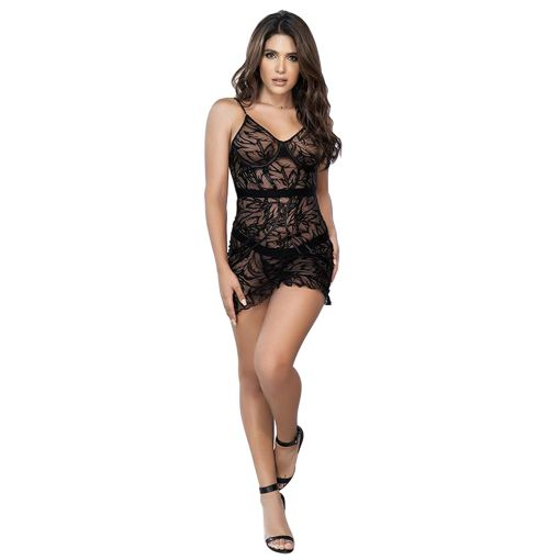Mapale Etched Lace Babydoll with Matching G-String 12