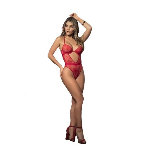 Mapale Red Front Cutout Design Teddy 8-10