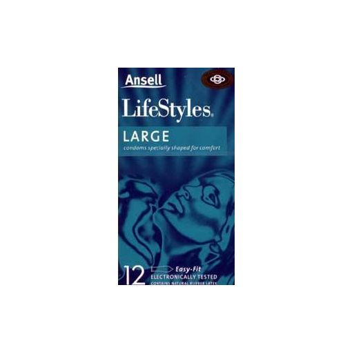 Ansell Large Condoms 12s