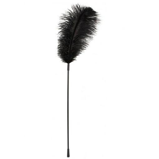 Black Ostrich Feather Tickler