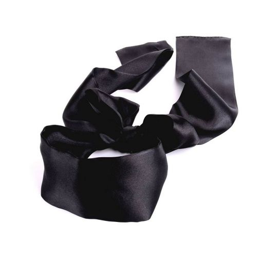 Black Silky Blind-Fold Scarf 141031 satin
