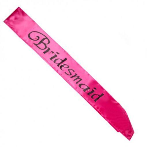 Hot Pink Bridesmaid Flashing Sash