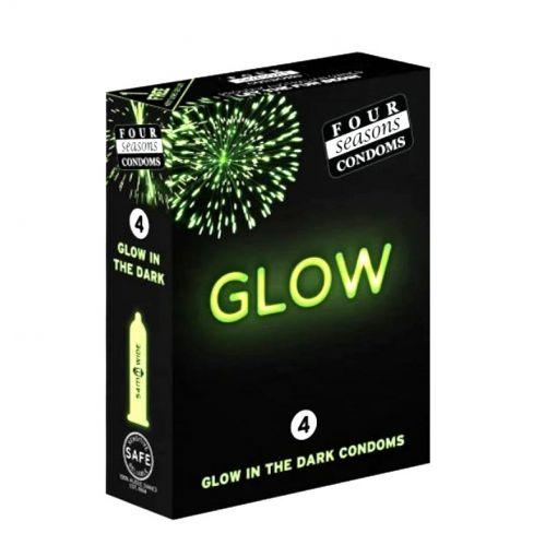 Four Seasons Glow In The Dark Condoms 4 Pack