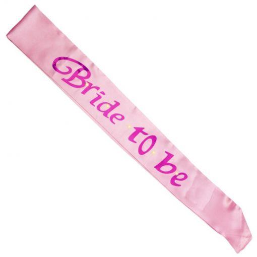Pink Bride To Be Flashing Sash