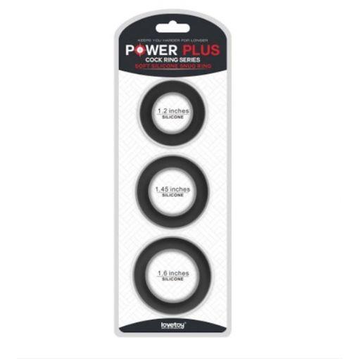 Power Plus 3 Pack Snug Cock Ring