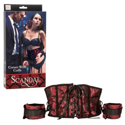Scandal Corset Harness with Cuffs