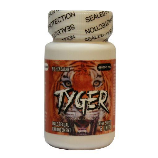 Tyger Male Enhancement Pills 6pk Bottle