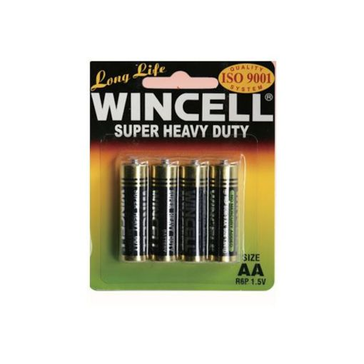 Long Life Wincell Super Heavy Duty Non Alkaline AA 4 Pack Batteries