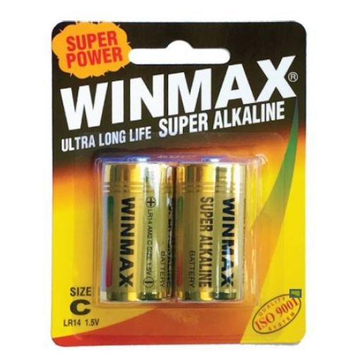 Winmax Ultra Long Life Super Alkaline Size C 2 Pack of Batteries